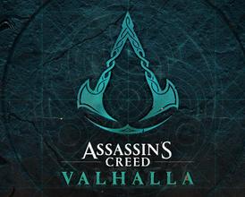 assassins creed valhalla logo wallpaper 4k
