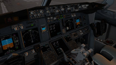 XPlane 11 Boeing 737-800 cockpit. (Source: Own)