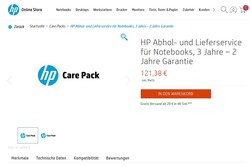 HP Care Packs extend the warranty coverage for up to three years
