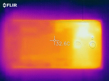 Thermal imaging camera - rear of the device
