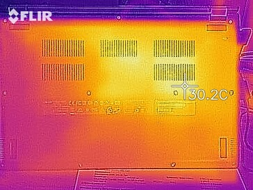 Heat map in idle operation - bottom