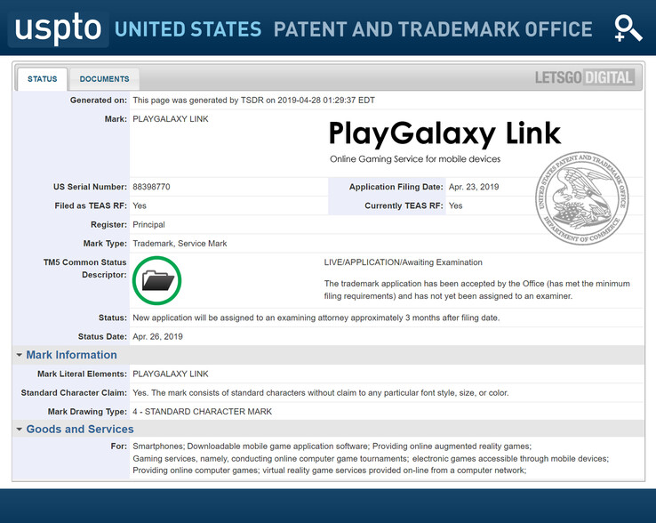 The USPTO file (Source: LetsGoDigital)