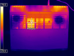 Heatmap of the bottom case under load (Optris PI 640)