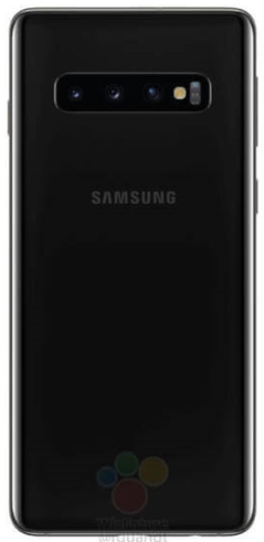 Samsung Galaxy S10 in black. (Source: WinFuture)