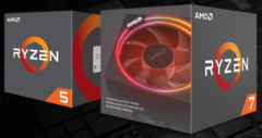The 2nd Gen AMD Ryzen 7 2700X and the Ryzen 5 2600X are here. (Source: AMD)
