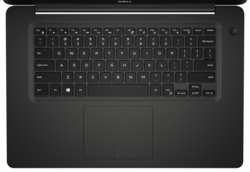 A look at the keyboard and trackpad on the Dell Vostro 5581