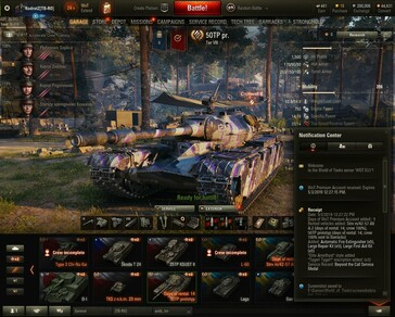 World of Tanks 1.5 Care Package Delta Receipt and premium 50TP tank with custom camo (Source: Own)