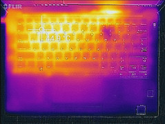 Thermal profile, max load (top)