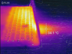 Thermal profile, max load (side)