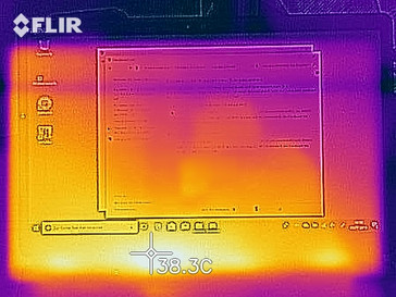 Heat development in idle - top