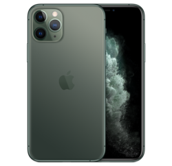Midnight green finish on the iPhone 11 Pro. (Image source: Apple)