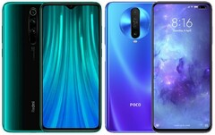 The Redmi Note 8 Pro and POCO X2 are predicted to be eligible for a MIUI 13 update. (Image source: Xiaomi - edited)