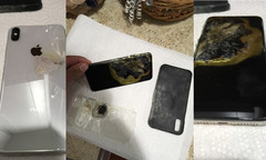 The man claims the almost brand-new iPhone XS Max simply caught on fire. (Source: J.Hillard/iDrop News)