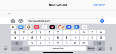 Using the default Apple keyboard in landscape mode