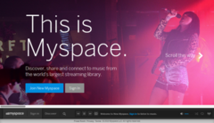 Myspace has lost all the music that once made it the world's most visited website. (Image source: Myspace)