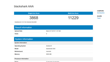 The complete list of new 'blackshark AAA' entries on Geekbench, along with a comparision between a higher-scoring 6GB variant and a lower-scoring 12GB RAM SKU. (Source: Geekbench)