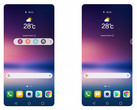 LG has replaced the V series' second screen with a new floating bar. (Source: LG)