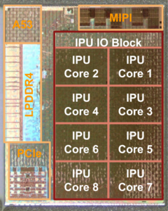 The Google and Intel co-designed custom Pixel Visual Core co-processor. (Source: Google)
