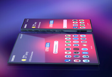 Render of the foldable smartphone from Samsung. (Source: LetsGoDigital)