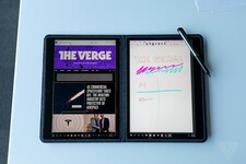 Notepad mode with correct screen ratio adjustment (Source: The Verge)