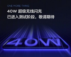 Xiaomi also claims to have 40W wireless charging in the works. (Source: Xiaomi)
