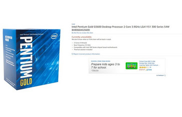 Pentium Gold G5600 (Source: Amazon)