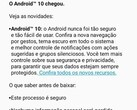 Android 10 has arrived for Moto G7 Power handsets in Brazil. (Image via Reddit user /u/paquier)