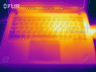 Thermal imaging of surface temperatures during a stress test - top