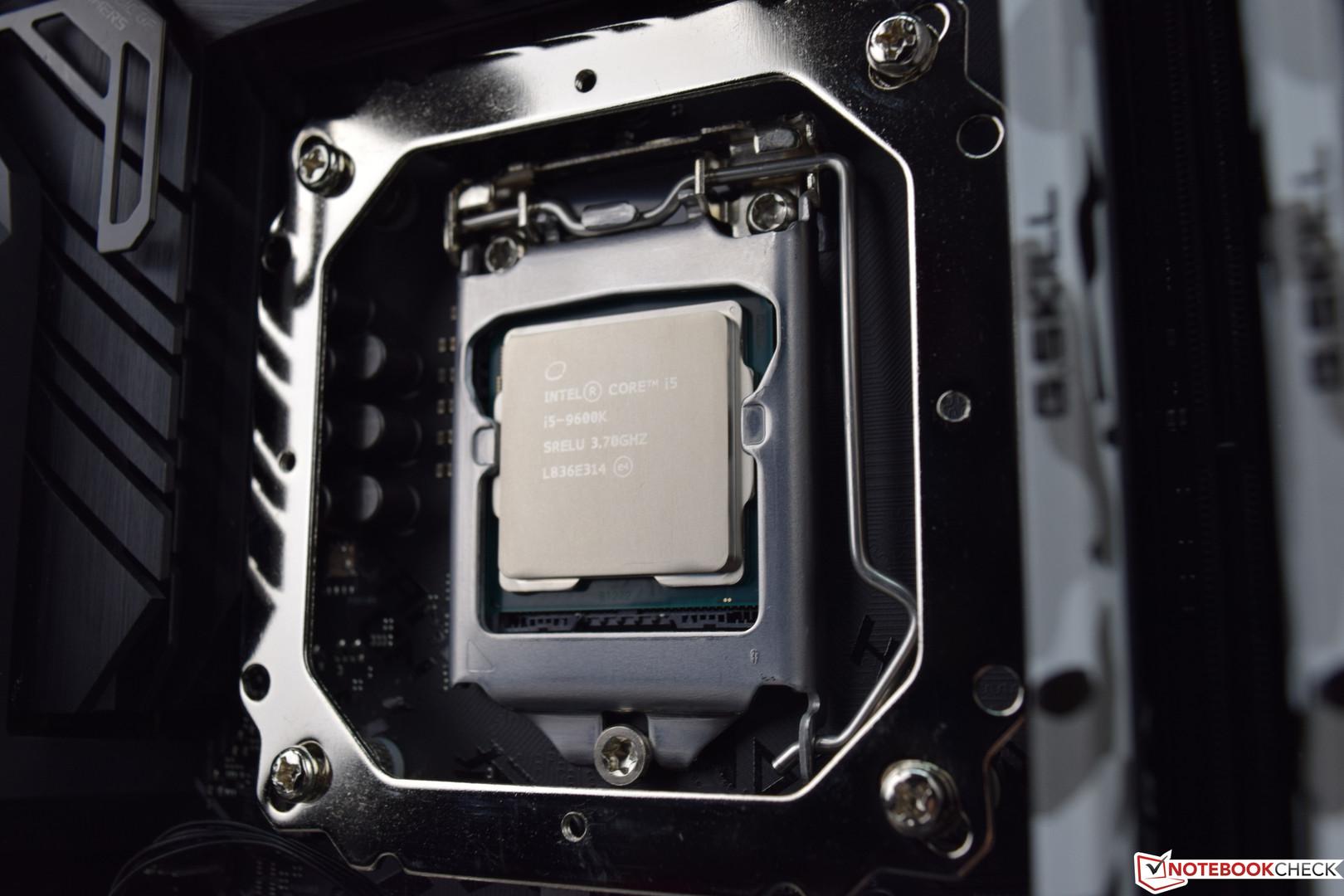 Intel Core i5-9600K Desktop CPU Review - NotebookCheck net