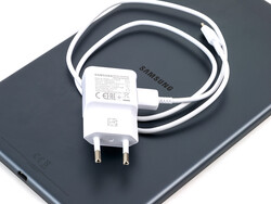 A look at the included charger and USB Type-A to Type-C cable