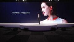 The new Huawei FreeLaces are debuted on stage in Paris. (Source: Huawei)