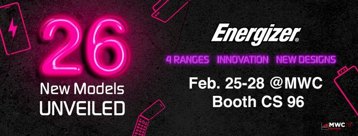 Energizer is coming to MWC19 with a huge line-up. (Source: Twitter/Energizer)
