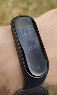 Xiaomi Mi Band 4 in the shade