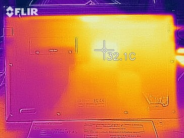 Thermal imaging in idle mode - bottom side