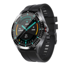 GW16: A Huawei Watch GT 2 lookalike with an IPS display and a thermometer for under US$25. (Image source: Bakeey)