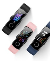 The Honor Band 5 comes in Blue, Black or Pink