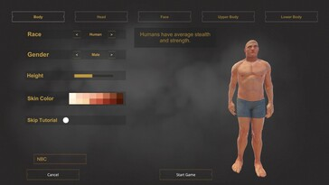 Character customization offers a lot of options....