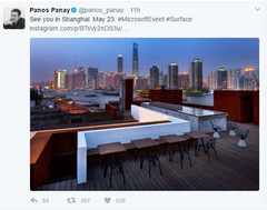 """On May 23 in Shanghai, Microsoft will show the world what's next."" (Source: Twitter)"