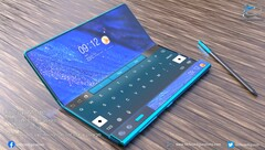 A render of the what the Huawei Mate X2 is expected to look like. (Image: TechConfigurations)