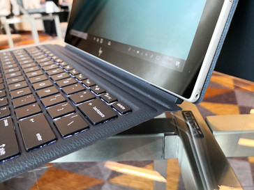 Envy x2 ARM. Keyboard can be flattened or angled similar to the Lenovo Miix 520