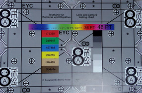 Test chart photographed