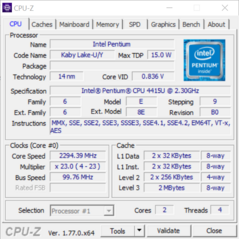 Screenshot CPU-Z