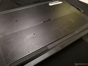 Ventilation grilles on half of the bottom plate