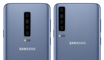 S10 concept images with vertically aligned main camera systems. (Image source: PhoneArena)