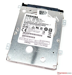 The Toshiba MQ04ABF100 1 TB HDD from our review unit