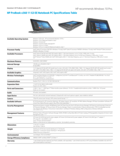 HP ProBook x360 11 G3 Education Edition specifications