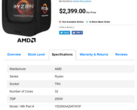 The AMD Ryzen Threadripper 2990X gets listed on CanadaComputers. (Source: Videocardz)