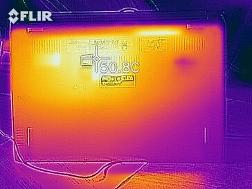Heatmap of the top of the device under load