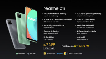 Realme C11 specifications (image via Realme on Twitter)