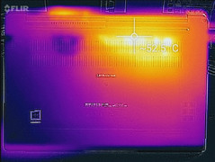 Thermal profile, max load, bottom